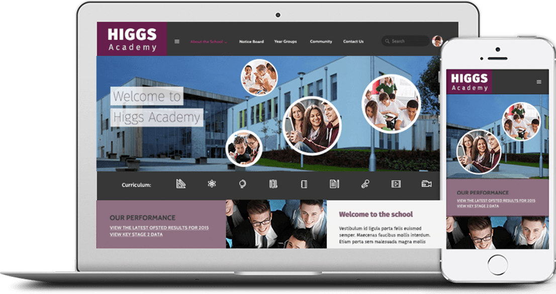 We build modern, responsive websites that are tailored to your school's specific needs