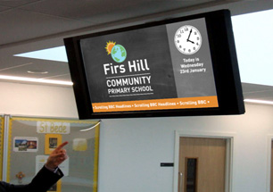 Firs Hill Primary Digital Screens