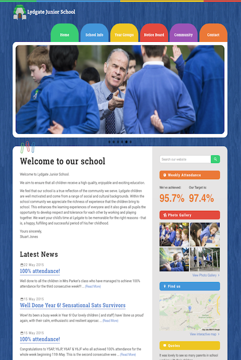 Lydgate Junior Website Screenshot