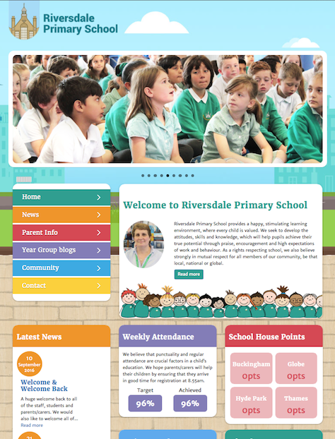 Riversdale Primary School Website Screenshot
