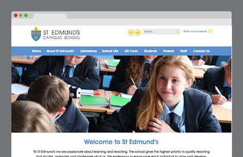 St Edmund's Catholic School Website Screenshot
