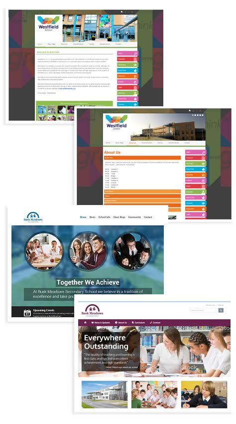 Mobile-friendly, great-looking websites for Secondary Schools